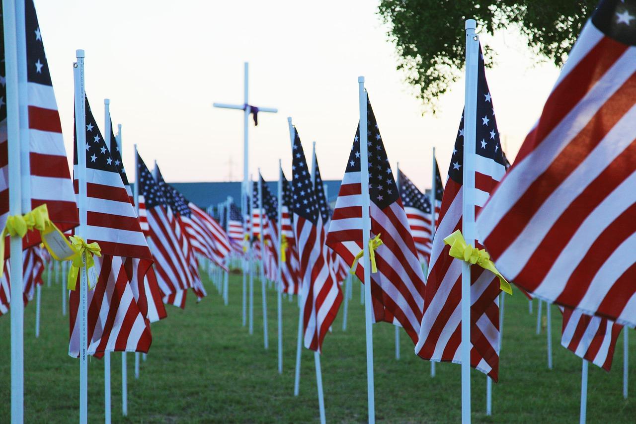 memorial day, flag, usa